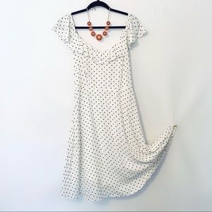 NWT OLD NAVY Tall Ivory Polka Dot Cami Dress
